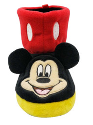 Disney Toddler Boys Black & Red Mickey Mouse Slippers Boots House Shoes