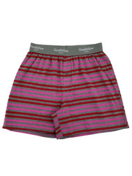 Mens Valentines Day Striped Underwear Knit Boxers Boxer Shorts