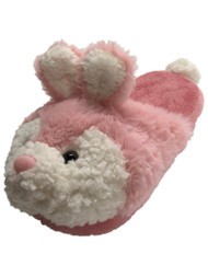 Girls Plush Fuzzy Pink Easter Bunny Rabbit Slippers Scuffs House Shoes