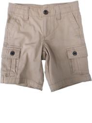 Boys Tan Khaki Brown Adjustable Waist Pocketed Denim Cargo Shorts Pants