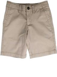 Boys Khaki Tan Denim Jeans Shorts Adjustable Waist Pants