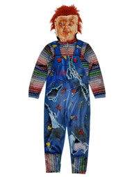 Chucky Childs Play Mens Full Zip Costume Union Suit Pajamas