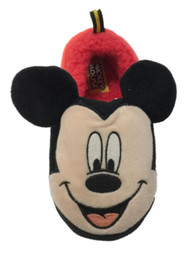Disney Toddler Boys Black & Red Mickey Mouse Loafer Slippers House Shoes