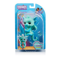 Fingerlings Glitter Dragon, Noa Green with Blue Interactive Baby Pet