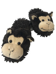 Boys Lumpy Brown Monkey Slippers Plush Critter Animal House Shoes Scuffs