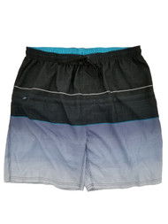 Mens Black & Gray Gradient Surf Shorts Board Shorts Swim Trunks