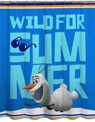 Disney Frozen Olaf Microfiber Shower Curtain Kids Wild For Summer Bath