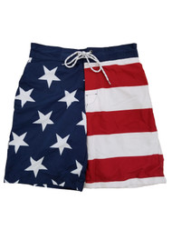 Mens USA Patriotic US Flag American Flag Swim Trunks Board Shorts