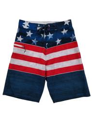Mens USA Patriotic American Flag Board Shorts Surf Shorts Swim Trunks