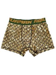 Aquaman Justice League DC Comics Mens Gold Lamé Underwear Boxer Briefs