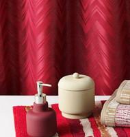 Apt 9 Vermillion Pink Chevron Fabric Shower Curtain