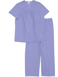 Lissome Lounge Womens Lavender Purple Silky Soft Semi-Sheer Pajamas Sleep Set