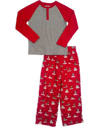 Little Boys Yak Seal Sloth Alligator Pajama Set Christmas Holiday Sleep Set