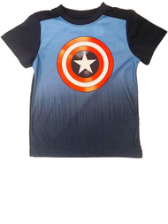 Boys Marvel Captain America Shield Tee Shirt Avengers Superhero T Shirt XS