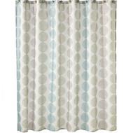 Saturday Knight Zen Geometric Circles Fabric Shower Curtain
