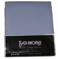 Bathworks Pretty Blue Raised Dot Fabric Shower Curtain Sea Breeze