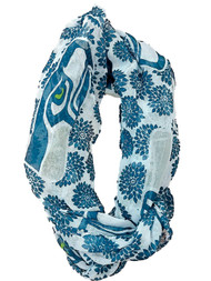 Womens Blue & Gray Seattle Seahawks Football NFL Infinity Eternity Scarf