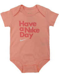 Infant Girls Pink Have A Nike Day Bodysuit Baby Creeper Shirt