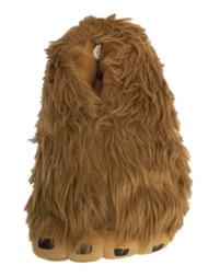 Mens Fuzzy Brown Fur Big Foot Slippers Plush Monster Sasquatch House Shoes