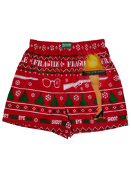 A Christmas Story Mens Red Fragile Leg Lamp Underwear Boxers Boxer Shorts S