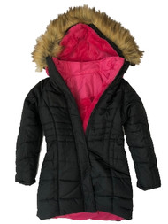 Girls Black 3in1 Convertible Puffer Ski Jacket Hooded Winter Snow Coat