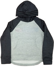 Adidas Girls Gray & Black Rainbow Shimmer Hoodie Sweatshirt Jacket