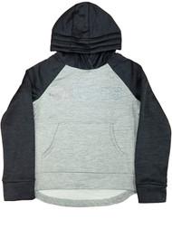Adidas Girls Gray & Black Rainbow Shimmer Hoodie Sweatshirt Jacket