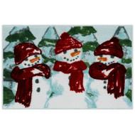St Nicholas Square Christmas Farmhouse Snowman Throw Rug 20x30 Non Skid Bath Mat