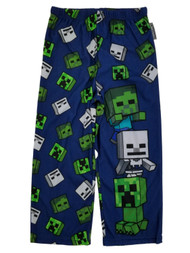 Minecraft Mojang Little Boys Blue Flannel Sleep Lounge Pants Pajama Bottoms S4/5