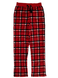 Boys Red Plaid Fleece Sleep Pants Lounge Pants Pajama Bottoms