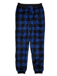 Boys Blue Buffalo Plaid Fleece Sleep Pants Lounge Pants Pajama Bottoms