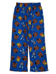 Five Nights At Freddy's Boys Blue Flannel Sleep Pants Pajama Bottoms