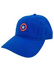 Marvel Mens Royal Blue Captain America Baseball Cap OSFM