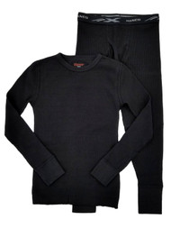 Hanes Ultimate X-Temp Boys Black Tagless Thermal Underwear Base Layer Set XS