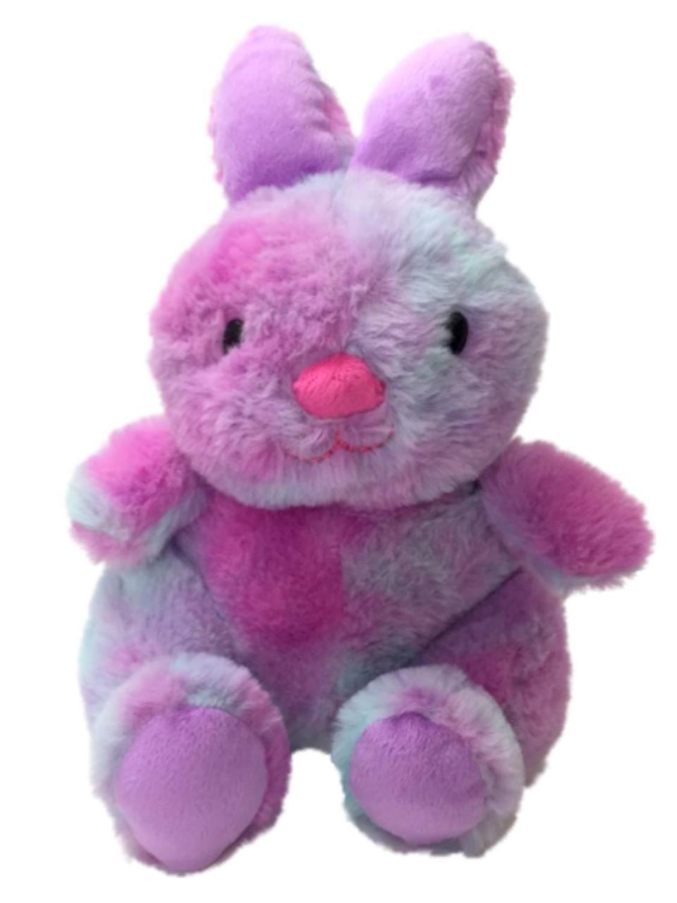 "2019 ANIMAL ADVENTURE~NWT~Bunny Rabbit~YELLOW//PINK TYE DYE~Adorable Plush~12/""~"
