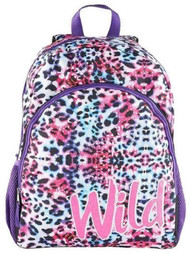"Accessories 22 Wild Cheetah Print 16"" Backpack,  School Book Bag"