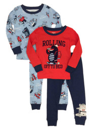Carters Toddler Boys 4 Piece Monster Rolling Off To Bed Pajama Sleep Set