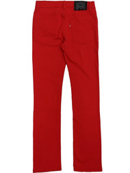 Levis 510 Skinny Fit Boys Red Denim Jeans