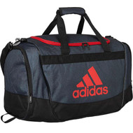 "adidas Defender II Duffel Bag, Medium 24"" Onix Grip Black Scarlet Duffle"