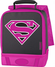 DC Comics Supergirl Dual Compartment Lunch Box with Cape Insulated Lunchbox