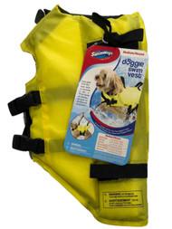 Swimways Dog Life Jacket Yellow Doggie Swim Vest Small 10-20 Pounds