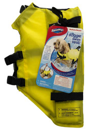 Swimways Dog Life Jacket Yellow Doggie Swim Vest Small 10-20 Pounds