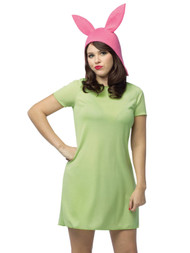 Bobs Burgers Womens Louise Halloween Costume Dress & Hat Set Small (4-6)