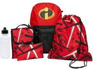 Incredibles Backpack & Lunch Box 5 Piece Set With Water Bottle