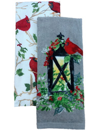 St Nicholas Square Christmas Cardinals & Light Kitchen Towel Set, 2 Dish Towels