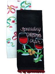 St Nicholas Square Christmas Spreading Cheer Kitchen Towel Set, 2 Dish Towels