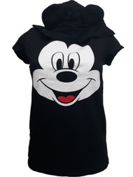 Womens Disney Black Mickey Mouse Hooded Halloween Character T-Shirt