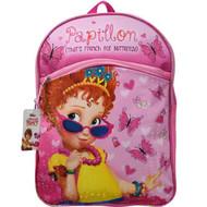 Fancy Nancy 16 inch Pixelated Butterfly Backpack, School Book Bag
