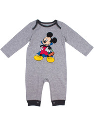 Disney Gray Infant Boys Vampire Mickey Mouse Romper Halloween Coveralls