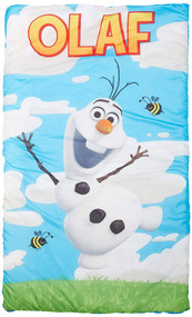 Disney Frozen Olaf Slumber Bag with Tote Backpack, Blue Sleeping Bag